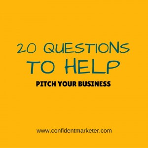 20 questions that help you pitch your business