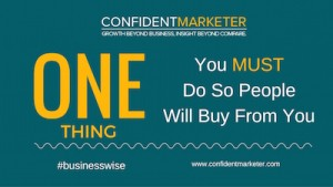 one thing to do in sales