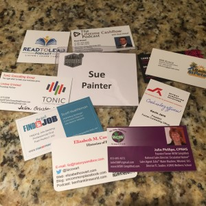 business cards and podcasting trends