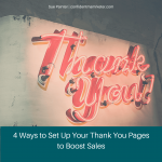 how to set up a thank you page