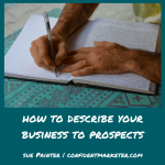 describing your business to prospects