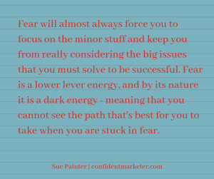 quote about how to deal with fear