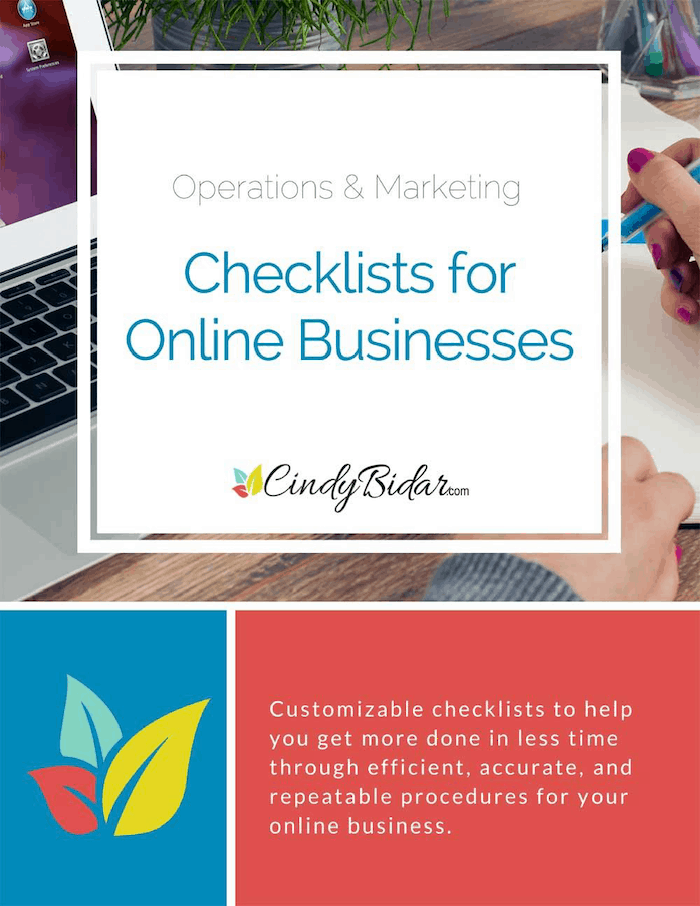 cindy-bidar-operations-marketing-checklists