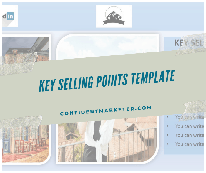 Key Selling Points template