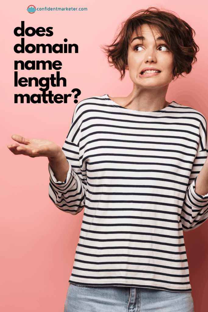 graphic for does domain name length matter
