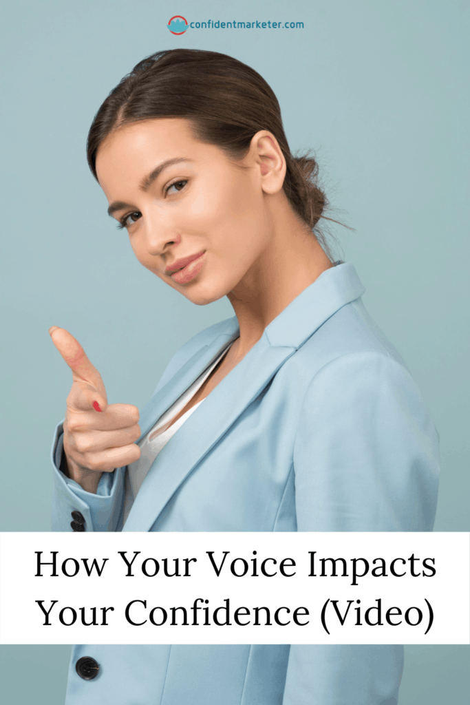 graphic for building confidence with your voice