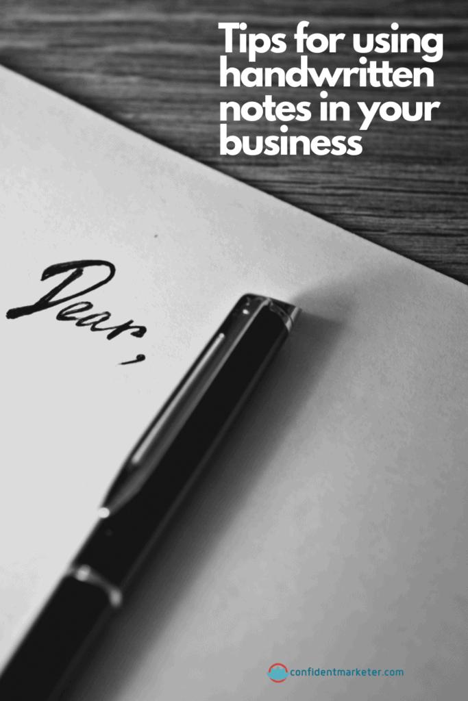 handwritten notes in business